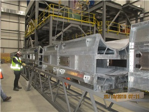 installation of conveyors to the concentrator