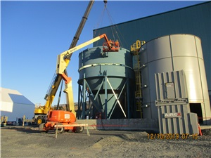 Installation of the thickener