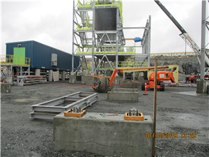 Formwork and concreting work at the crushing area